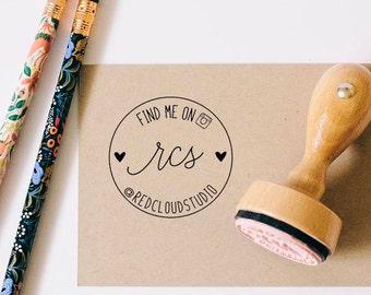 Etsy Seller Stamp, Social Media Stamp, Instagram Packaging Stamp, Branding Stamp, Mail Rubber Stamp, Photographer Stamp, Custom Logo Stamp