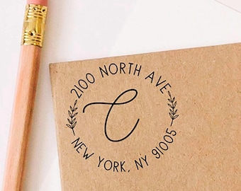 Return Address Stamp, Self-Inking Stamp, Personalized Address Stamp, Calligraphy Address Stamp, Mothers Day Gift, Housewarming Gift