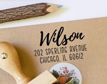 Return Address Stamp,  Self Inking Stamp, Custom Address Stamp, Wedding Gift, Engagement Gift, Personalized Address Label, Calligraphy Stamp