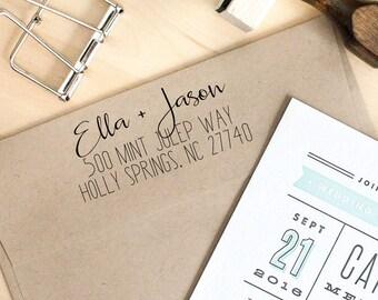 Return Address Stamp, Self-Inking Stamp, Personalized Address Stamp, Calligraphy Address Stamp, Custom Address Stamp, Housewarming Gift