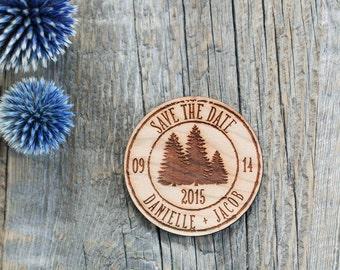 Custom Engraved Wedding Invitation, Mountain Wedding Invitation, Save the Date, Wedding Wood Favor, Winter Wedding Invite