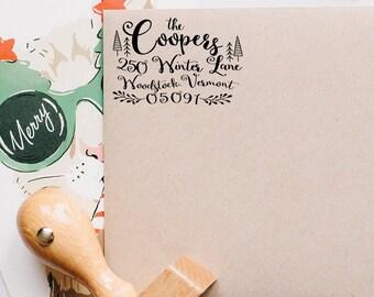 Return Address Stamp, Christmas Address Stamp, Greeting Cards Stamp, Custom Address Stamp, Christmas Address Label, Christmas Packaging