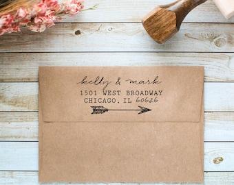 Return Address Stamp, Personalized Address Stamp, Wedding Invitation Stamp, Custom Address Stamp, Calligraphy Address Stamp, Save the Date