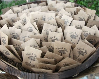 50 Customized Eco-Friendly Let Love Grow Wedding Seed Favor Envelopes