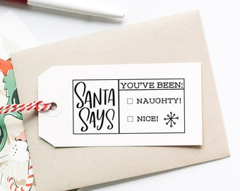 Christmas Packaging Stamp, Holiday Tag Stamp, Santa Stamp, Christmas Gift Stamp, Holiday Stickers, Christmas Gift Tags, Christmas Stationery