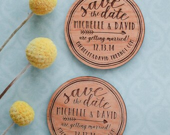 Custom Save the Date, Save the Date Wood Magnet, Wooden Invitation, Engraved Wood Magnet, Wedding Favor, Wedding Invitation, Wedding Cards