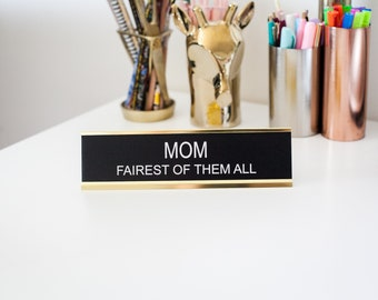 Office Signs, Funny Desk Signs, Home Office, Office Decor, Teacher Gifts, Mother's Day Gift, Laser Engraved Gifts, Gifts for Her, Boss Gifts