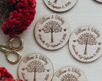 Custom Save the Date Invitations, Wood Save the Date Magnet, Wood Invitation, Custom Wedding Favor