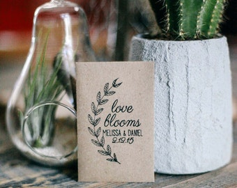 75 Customized Eco-Friendly Love Blooms Wedding Seed Favor Envelopes