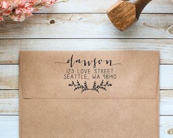 Return Address Stamp, Calligraphy Address Stamp, Wedding Address Stamp, Wedding Invitation Rubber Stamp, Business Address Stamp
