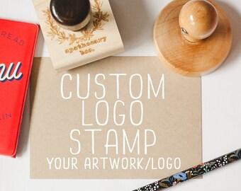 Custom Stamp for Business, Logo Stamp, Shop Stamp, Business Stamp, Business Brand Rubber Stamp Style - Your Logo or Artwork