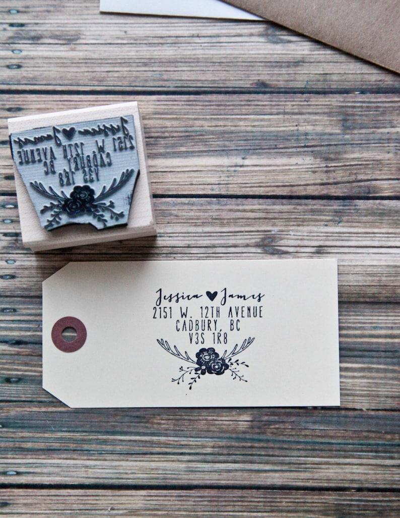 Wedding Rubber Stamp Save the Date Stamp Wedding Invitation Rubber Stamp Return Address Stamp Deer Antler Stamp Custom Address Stamp