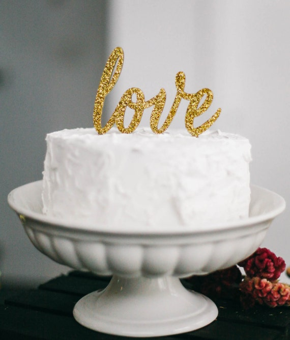 gold cake toppers for wedding cakes items similar to cake topper gold cake topper 14749