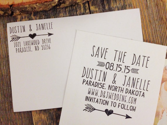 Save the Date Wedding Rubber Stamp, Return Address Stamp, Wedding Invitation Stamp Set