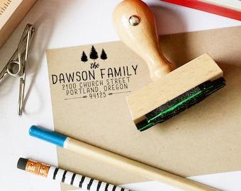 Return Address Stamp,  Custom Tree Stamp, Wedding Invitation Stamp, Forest Wedding Stamp, Personalized Address Stamp, Camp Wedding Stamp