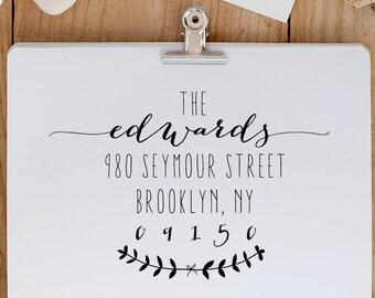 Return Address Stamp, Personalized Address Stamp, Wedding Invitation Stamp, Custom Address Stamp, Calligraphy Address Stamp