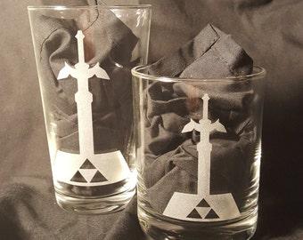 Master Sword Zelda Pint Glass
