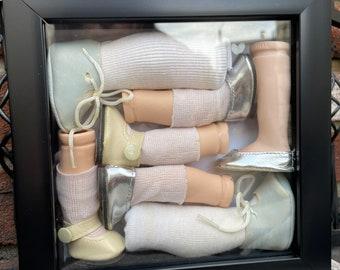 Spare Parts Antique Doll Shadow Box Creepy Horror Decor