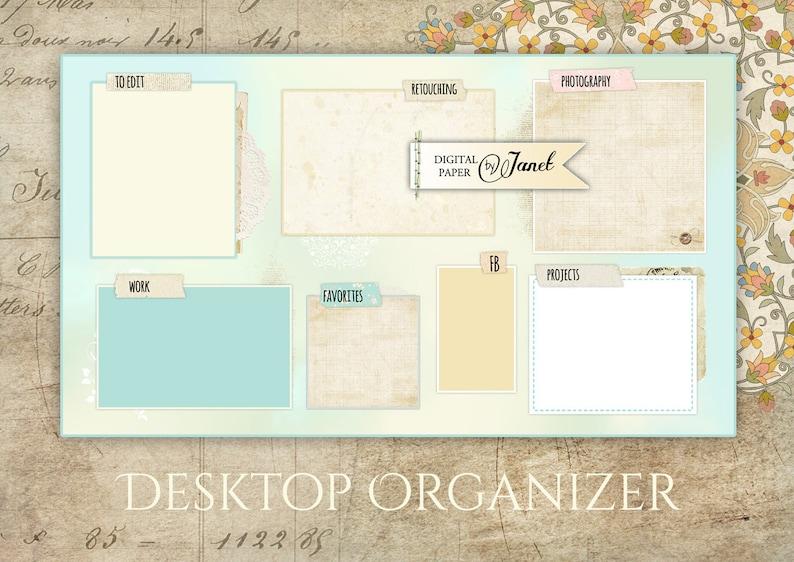 Sfondi Desktop Organizer Immagine Digitale Etsy