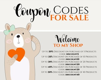 COUPON Codes for SALE - only information - do not buy this product