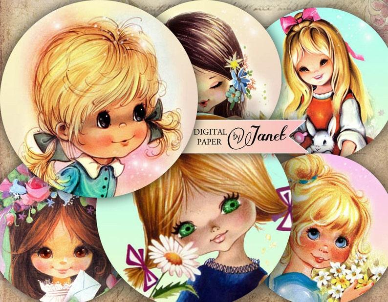 Mała dziewczynka  25-calowe koła  zestaw 12  kolaż arkusz image 0