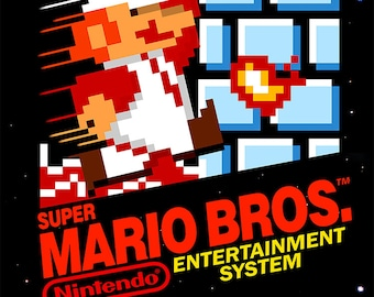 "Super Mario Bros NES 18 x 24"" Video Game Poster, 1,2,3 & Bundle"