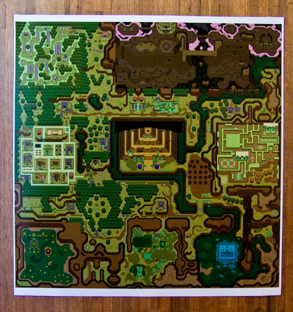 A Link To The Past Dark World Map.Hyrule Legend Of Zelda A Link To The Past Dark World 24 Etsy