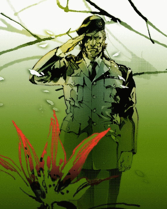 Metal Gear Solid 3 Snake Eater 24 X 30 Video Game Poster