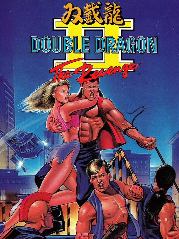 Double Dragon Ii 18 X 24 Video Game Poster Etsy