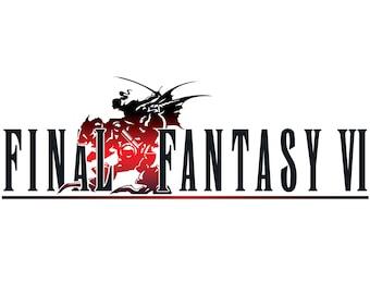 Final Fantasy VI Poster, Video Game Poster
