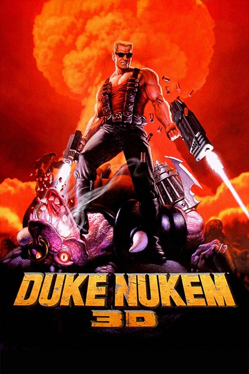 4ca47230e Duke Nukem 3D video game poster multiple sizes
