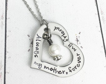 Always My Mother Forever My Friend Mothers Necklace - Mother's Day Necklace - Mother's Day Gift - Gift for Mom - Mom Necklace