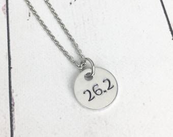 26.2 Marathon Necklace - Marathon Jewelry - Runner Necklace - Runner Jewelry - Race Jewelry - Gift for Runner - Running Gift
