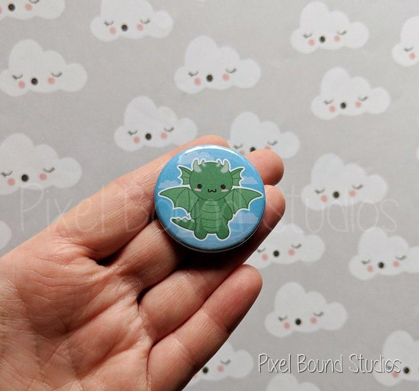 1.5 Dragon Button Pin