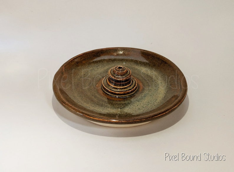 Hand Thrown Bronze Ceramic Incense Burner