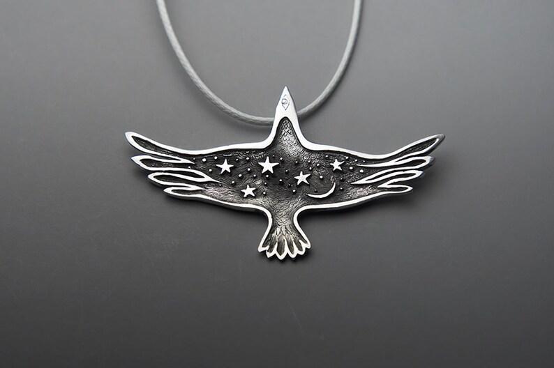 Night Raven Jewelry Crow Black Raven Necklace Raven image 0
