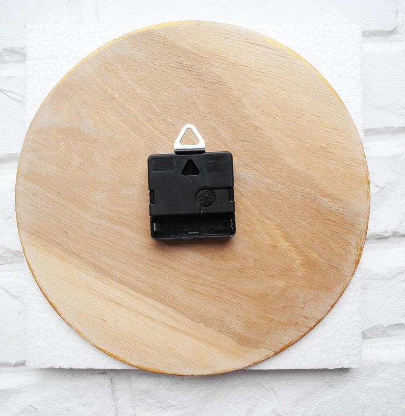 Tournesol horloge murale, horloge murale blanc, bois naturel, horloge en bois, cadeau enfant, pour le bureau, cuisine style