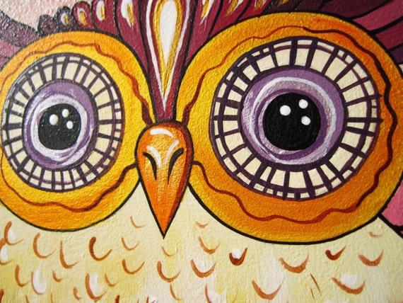 Hibou rose horloge murale, horloge murale moderne avec numéros ...