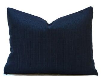 Clearance 16x12  Lumbar Pillow Cover Decorative Pillow Cover Navy Pillow Premier Prints Winston Navy