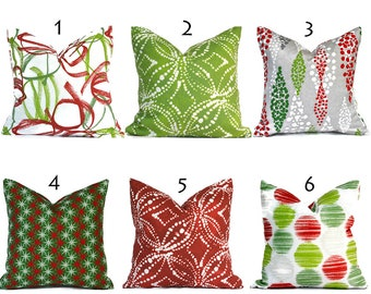 Indoor Holiday Pillow Covers Decorative Home Decor Red Christmas Designer Throw Pillow Covers You Choose