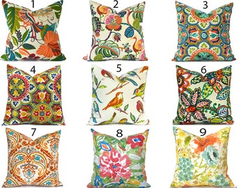 Outdoor Pillow Covers Decorative Home Decor Red Orange Floral Designer Throw Pillows You Choose Outdoor