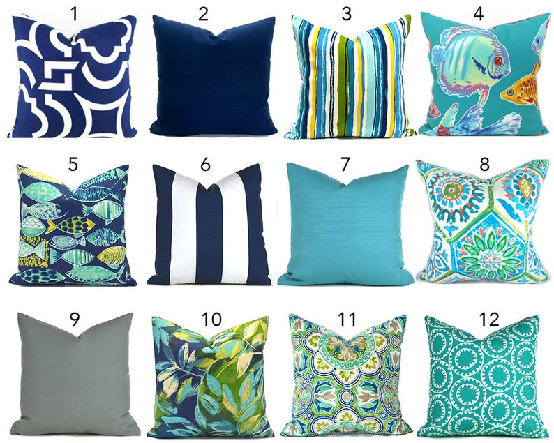 Outdoor Pillow Covers Decorative Pillows ANY SIZE Home Decor Pillow Cover  Navy O... Outdoor Pillow Covers Decorative Pillows ANY SIZE Home Decor  Pillow ...