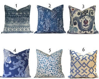 Indoor Pillow Covers Decorative Home Decor Navy Blue Bohemian Indian Designer Throw Pillow Covers You Choose