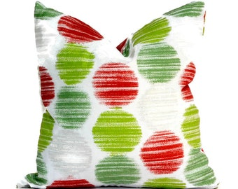 Indoor Holiday Pillow Covers Decorative Home Decor Red Christmas Designer Throw Pillow Covers Fallon Pine
