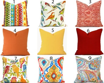 Outdoor Pillow Covers Decorative Home Decor Burnt Orange Red Designer Throw Pillow Covers You Choose Outdoor