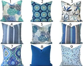 Outdoor Pillow Covers Decorative Home Decor Navy Blue Designer Throw Pillow Covers You Choose Outdoor