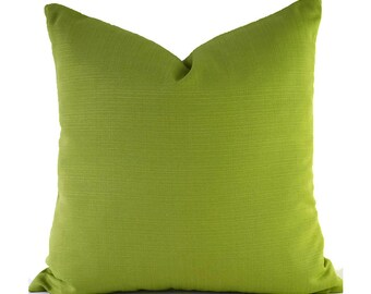 Indoor Outdoor Covers Outdoor Pillow Covers ANY SIZE Decorative Pillows Solid Green Pillow Covers Richloom Outdoor Forsythe Kiwi