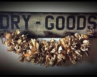 Handmade peg rack-DRY GOODS