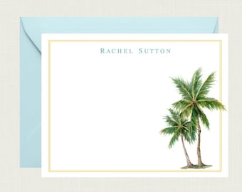 Palm Tree Note Cards  Palm Tree Cards  Palm Tree  Tropical Stationery  Watercolor Art  Note Cards  Stationery