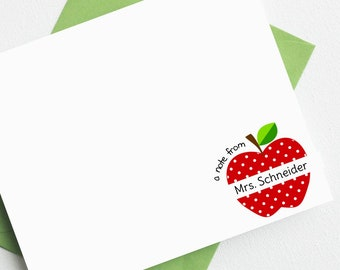 Personalized Teacher Notes | Personalized Teacher Gifts | Teacher Stationery | Teacher Christmas Gifts | Teacher Gifts AS-1704